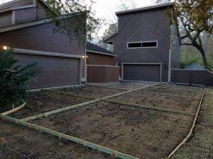 setting driveway concrete forms